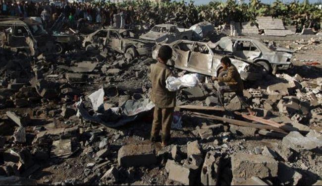 ادامه حملات جنگنده های ائتلاف عربی به یمن