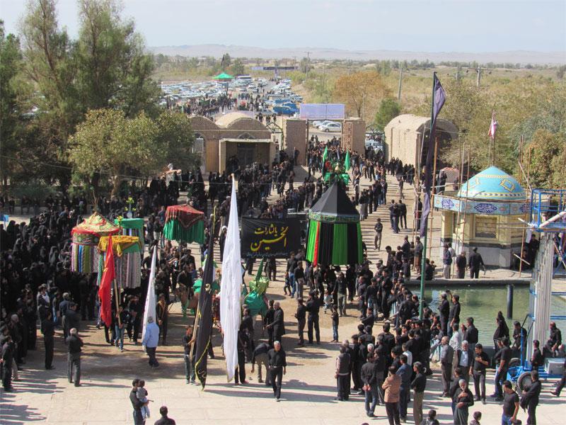 مراسم عزاداری عاشورای حسینی در امامزاده سیدجلال الدین اشرف نوق  برگزار شد